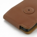 Motorola DROID Turbo Leather Flip Case (Brown) protective carrying case by PDair