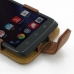 Motorola DROID Turbo Leather Flip Case (Brown) handmade leather case by PDair