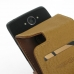 Motorola DROID Turbo Leather Flip Case (Brown) genuine leather case by PDair