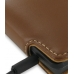 Motorola DROID X / Milestone X Leather Flip Case (Brown) top quality leather case by PDair