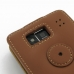 Motorola Droid Razr Maxx HD Leather Flip Top Case (Brown) protective carrying case by PDair
