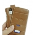 Motorola Q / Q Pro Leather Flip Case (Brown) top quality leather case by PDair