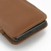 Motorola Droid Razr Maxx Leather Sleeve Pouch Case (Brown) protective carrying case by PDair