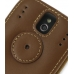 Sprint Palm Pixi Leather Flip Cover (Brown) protective carrying case by PDair