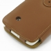 Sharp SH530U Leather Flip Cover (Brown) handmade leather case by PDair