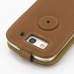 Samsung Galaxy S3 Leather Flip Top Case (Brown) protective carrying case by PDair