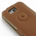 Samsung Ativ S Leather Flip Top Case (Brown) protective carrying case by PDair