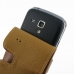 Samsung Galaxy S Duos Leather Flip Case (Brown) handmade leather case by PDair