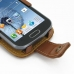 Samsung Galaxy S Duos Leather Flip Case (Brown) genuine leather case by PDair