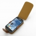 Samsung Galaxy S Duos Leather Flip Case (Brown) top quality leather case by PDair
