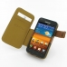 Samsung Galaxy S2 Epic Leather Flip Cover (Brown) top quality leather case by PDair