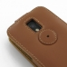 Samsung Galaxy S2 Epic Leather Flip Top Case (Brown) protective carrying case by PDair