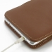 Samsung Galaxy Note 4 Pouch Case with Belt Clip (Brown) handmade leather case by PDair