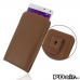 Samsung Galaxy Note 4 Pouch Case with Belt Clip (Brown) best cellphone case by PDair