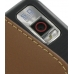 Samsung Omnia i908 i900 Pouch Case with Belt Clip (Brown) genuine leather case by PDair