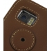Samsung i8000 Omnia II Leather Flip Cover (Brown) protective carrying case by PDair