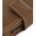 Samsung i8000 Omnia II Leather Flip Cover (Brown) handmade leather case by PDair