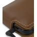 Samsung i8000 Omnia II Leather Flip Case (Brown) genuine leather case by PDair