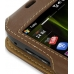 Samsung i8000 Omnia II Leather Sleeve Case (Brown) genuine leather case by PDair