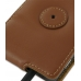 Samsung Infuse Leather Flip Case (Brown) protective carrying case by PDair
