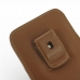 Samsung Galaxy Note 3 (in Slim Cover) Pouch Clip Case (Brown) top quality leather case by PDair
