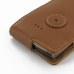 Samsung Captivate Galaxy S Leather Flip Case (Brown) protective carrying case by PDair