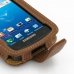 Samsung Captivate Galaxy S Leather Flip Case (Brown) genuine leather case by PDair