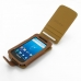 Samsung Captivate Galaxy S Leather Flip Case (Brown) top quality leather case by PDair