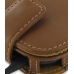 Samsung Google Nexus S Leather Flip Case (Brown) genuine leather case by PDair