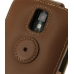 Samsung Galaxy S2 T989 Leather Flip Top Case (Brown) protective carrying case by PDair