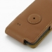 Samsung Galaxy Y Duos Leather Flip Case (Brown) protective carrying case by PDair
