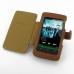 Sony Walkman NWZ-Z1060 Z1050 Z1040 Leather Flip Cover (Brown) top quality leather case by PDair