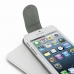 iPhone 5 5s Leather Flip Top Case (White) genuine leather case by PDair
