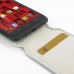 Motorola Droid Maxx Leather Flip Top Carry Case (White) genuine leather case by PDair