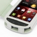Samsung Droid Charge Leather Flip Cover (White) genuine leather case by PDair