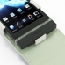 Sony Xperia P Leather Flip Top Case (White) genuine leather case by PDair