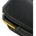 Samsung Corby2 Sleeve Leather Pouch Case (Large/Black) handmade leather case by PDair