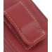 Motorola MOTOSURF A3100 Sleeve Leather Pouch Case (Large/Red) protective carrying case by PDair