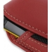 Samsung B3210 CorbyTXT Sleeve Leather Pouch Case (Large/Red) handmade leather case by PDair