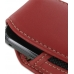 Samsung Galaxy Gio Sleeve Leather Pouch Case (Large/Red) handmade leather case by PDair