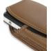 Sony Ericsson W960 Sleeve Leather Pouch Case (Large/Brown) genuine leather case by PDair