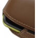 Samsung Galaxy Mini Sleeve Leather Pouch Case (Large/Brown) handmade leather case by PDair