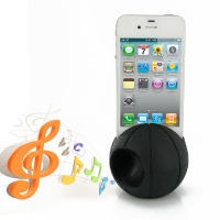 Acoustic Amplifier for Apple iPhone 4 | iPhone 4s (Black Basketball Shape)