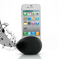 Acoustic Amplifier for Apple iPhone 4 | iPhone 4s (Black Ellipse Shape)