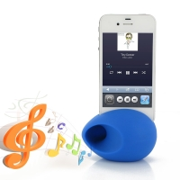 Acoustic Amplifier for Apple iPhone 4 | iPhone 4s (Blue Ellipse Shape)