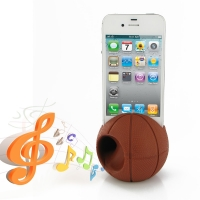 Acoustic Amplifier for Apple iPhone 4 | iPhone 4s (Brown Basketball Shape)