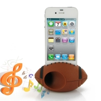 Acoustic Amplifier for Apple iPhone 4 | iPhone 4s (Brown Rugby Shape)