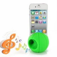Acoustic Amplifier for Apple iPhone 4 | iPhone 4s (Green Basketball Shape)