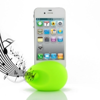 Acoustic Amplifier for Apple iPhone 4 | iPhone 4s (Green Ellipse Shape)