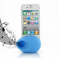Acoustic Amplifier for Apple iPhone 4 | iPhone 4s (Light Blue Ellipse Shape)